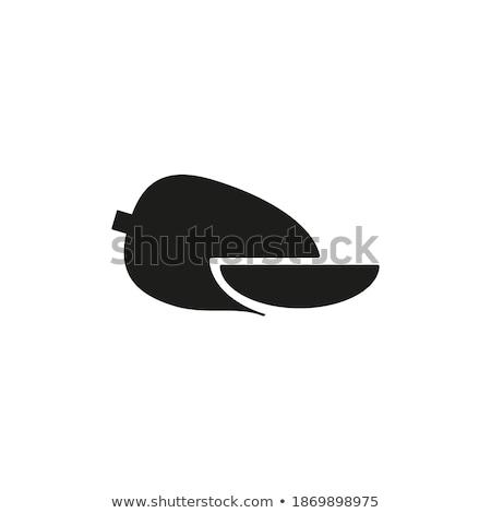 friss · gyümölcs · izolált · fehér · vektor · terv - stock fotó © robuart