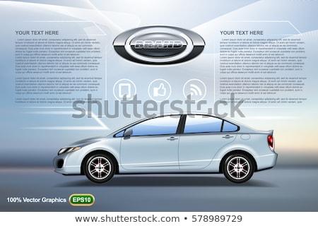 Gerçekçi mavi sedan araba vektör Stok fotoğraf © YuriSchmidt