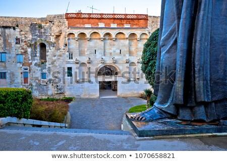 Foto stock: Edad · torre · estatua · vista · región · Croacia