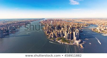Manhattan Skyline From Hudson River Stock photo © AndreyPopov