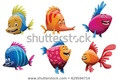 Cute Goldfisch Zeichen Illustration Fisch Meer Stock foto © bluering