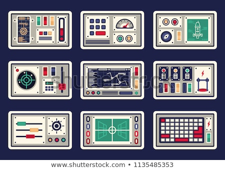 Different designs of spaceships Stock photo © colematt