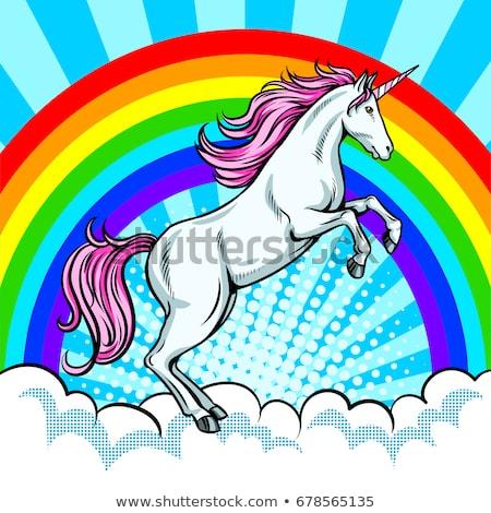 unicorn and rainbow book concept stock photo © bluering