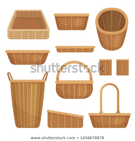 vector set of wicker basket Stock photo © olllikeballoon