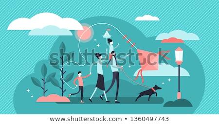 family tradition concept vector illustration stock photo © rastudio