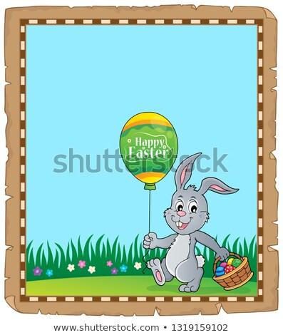 Pasen konijn perkament papier gelukkig ei Stockfoto © clairev