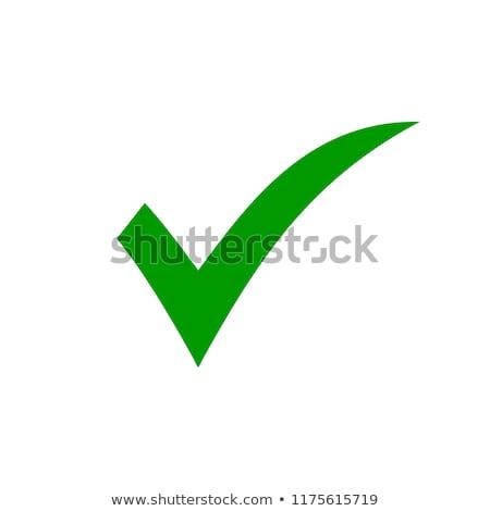 vérifier · liste · bouton · icône · signe - photo stock © kyryloff