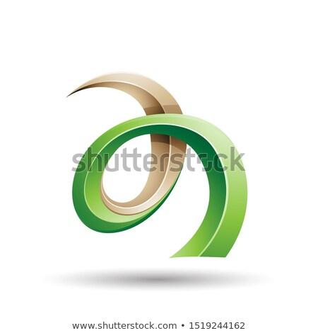 緑 ベージュ ツタ のような 手紙 ストックフォト © cidepix