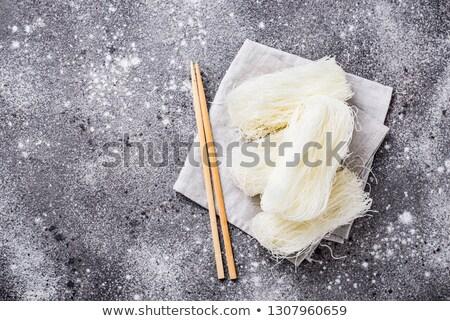 Raw funchoza, Korean bean noodles Stock photo © furmanphoto