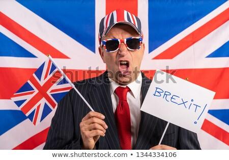 İngilizler erkek işadamı afiş iş imzalamak Stok fotoğraf © lunamarina