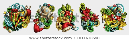 Happy New Year, Jingle Bell Merry Christmas Set Stock photo © robuart
