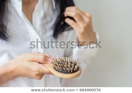 cabelo · cair · problema · coleção · conjunto · perdido - foto stock © szefei