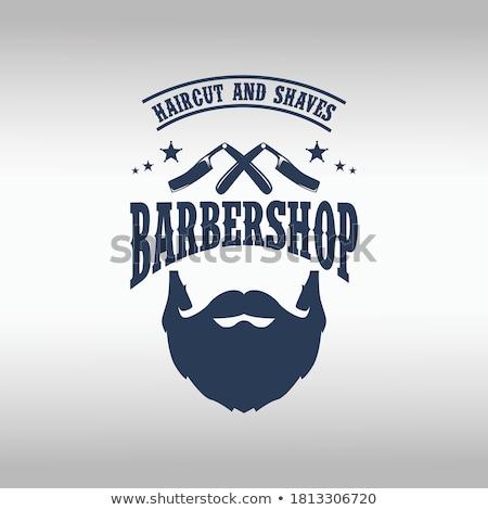 Barber shop - colorful flat design style illustration Stock photo © Decorwithme