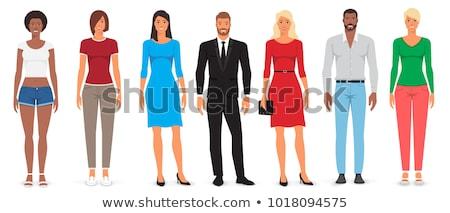 ストックフォト: セット · 女性 · カジュアル · 服 · 単純な · デザイン