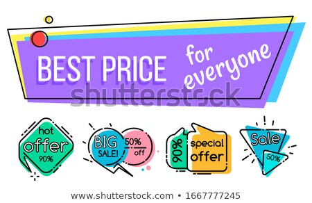Big Sale with Best Price for Everyone Promo Banner Stock photo © robuart