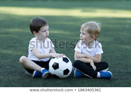 twee · kinderen · spelen · gelukkig · zwarte · samen - stockfoto © robuart