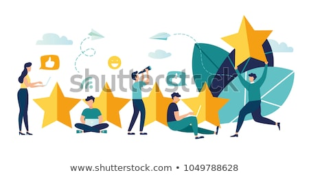 Result achievement concept vector illustration of business people. Flat vector illustration Stock photo © makyzz