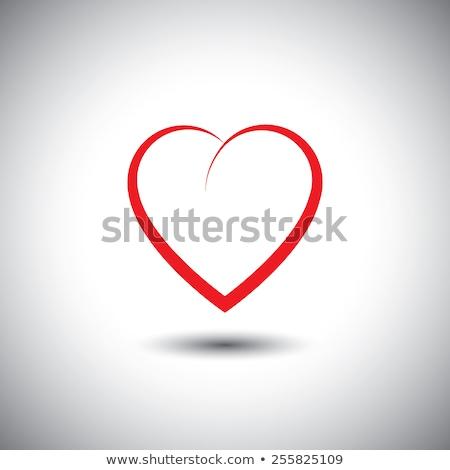 eenvoudige · hart · icon · liefde · emotie · vector - stockfoto © kyryloff
