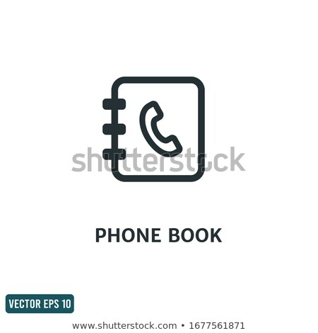контакт · книга · икона · белый · служба · бумаги - Сток-фото © angelp