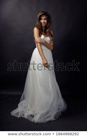 фото · брюнетка · женщину · долго · темные · волосы - Сток-фото © deandrobot
