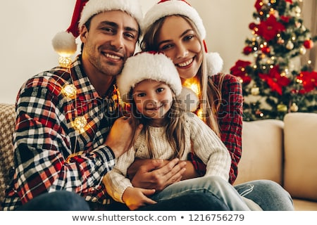 Noel · sunmak · dede · mutlu · gülen - stok fotoğraf © dolgachov