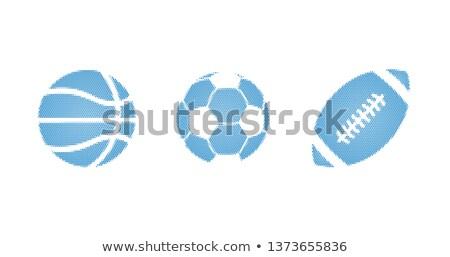 bleu · sport · en · demi-teinte · pointillé - photo stock © kyryloff