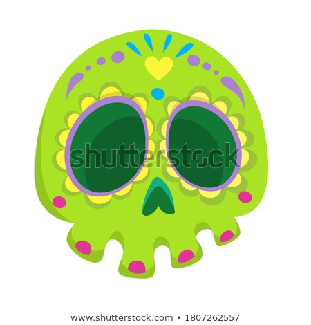 vector set of skull cartoon Foto stock © olllikeballoon
