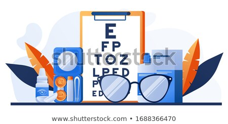 Optical Glasses And Contact Lenses Set Vector Сток-фото © pikepicture