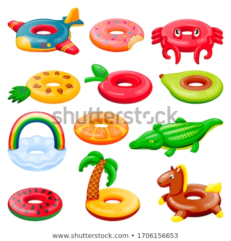 Inflatable Crocodile in Water Isolated Cartoon Toy Stock fotó © robuart