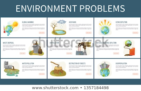 Сток-фото: Environmental Problems, Waste Disposal Acid Rain