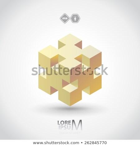 キューブ · グラフィックデザイン · テンプレート · ベクトル · 孤立した · 実例 - ストックフォト © haris99