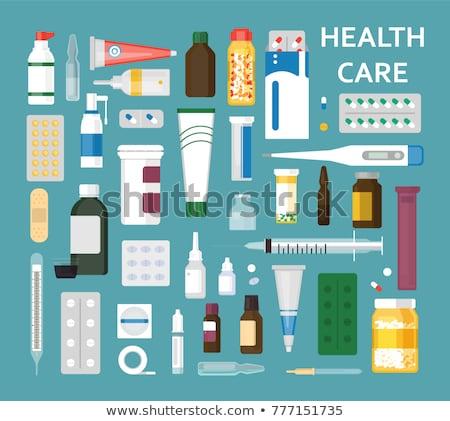 объекты медицина аптека набор здоровья изолированный Сток-фото © Anna_leni
