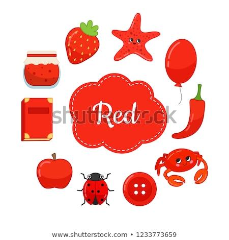 Fundamenteel kleuren ingesteld cartoon illustratie Stockfoto © izakowski