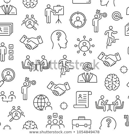 会議 アイコン パターン ビジネスの方々  ワークグループ 通信 ストックフォト © netkov1