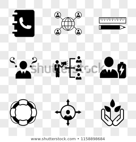 Lifeguard flat icon set Stock photo © netkov1