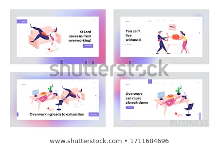 Competitor Of Work Vacancy Position Set Vector Stock photo © pikepicture