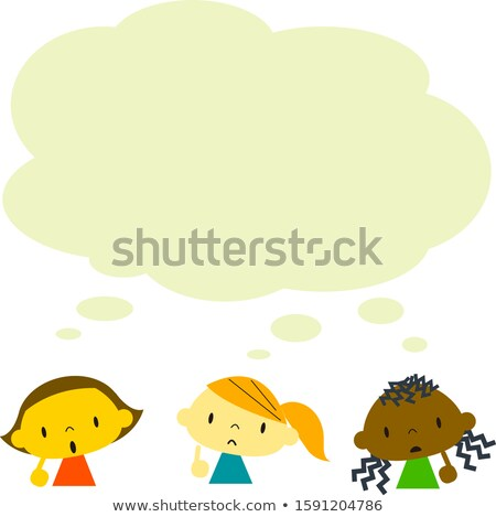 Curious Happy Multicultural Character Set Vector Stock photo © pikepicture