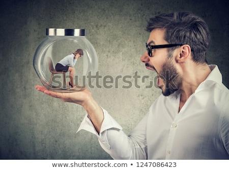 mulher · mãos · algo · mulher · de · negócios · negócio · mão - foto stock © pressmaster