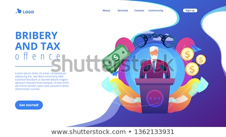 Political corruption concept landing page. Stock photo © RAStudio