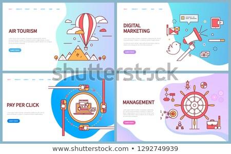 Air tourism, Digital Marketing, Management Vector Stock photo © robuart