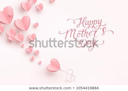 Criador feliz dia das mães saudação projeto mulher menina Foto stock © SArts