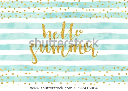 hello summer blue watercolor background Stock photo © SArts