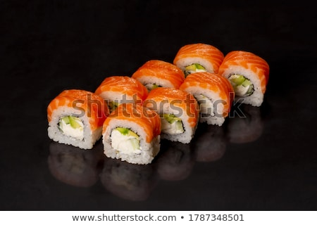 sushi set closeup asian cuisine Stock photo © OleksandrO