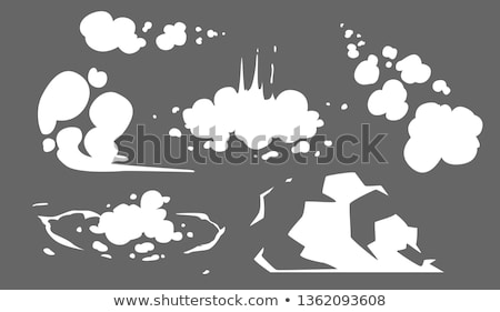 Smoke clouds. Steam cloud set. Fog flat isolated clipart. Steam smoke clouds of cigarettes. Vector Stock photo © Andrei_