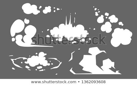 Rook wolken stoom wolk ingesteld mist Stockfoto © Andrei_