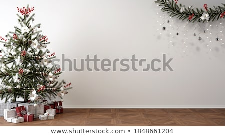 Family Christmas in living room with tree Stock photo © colematt