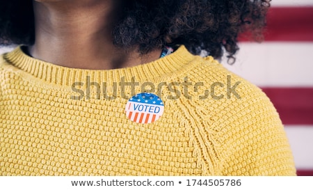 vote · élections · doigt · poussant · bouton - photo stock © lightsource