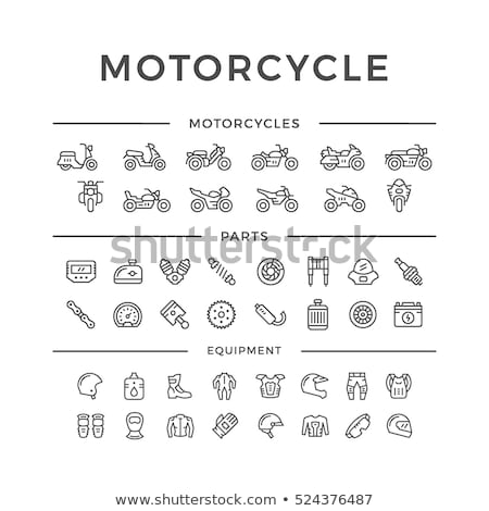Vector set of motorcycle accessories Stock photo © netkov1