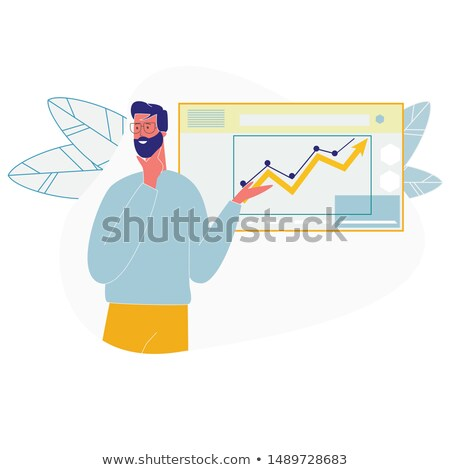 Infographics and People Dressed Formally Vector Stock photo © robuart