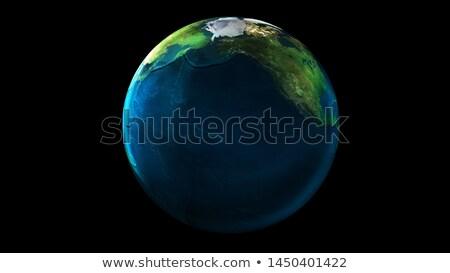 солнце · север · Америки · планете · Земля · синий · изолированный - Сток-фото © conceptcafe
